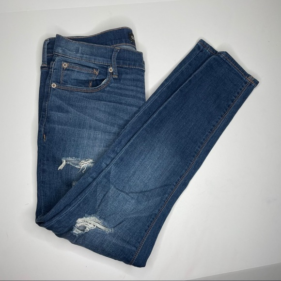 Express Jeans Cropped Legging Mid Rise Size 6